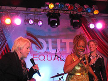 Cyndi Lauper, Thelma Houston, Out for Equality Inaugural Ball 2009