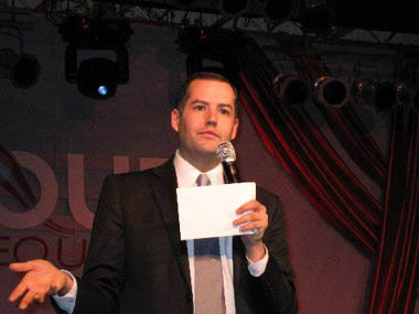 Ross Matthews, Ross The Intern from The Tonight Show, Out for Equality Inaugural Ball 2009