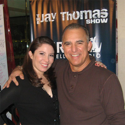 Dr. Sari Locker and Jay Thomas at Sirius XM